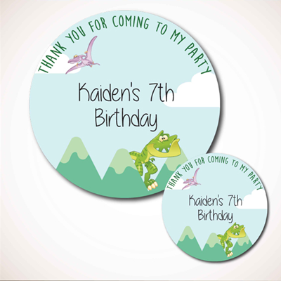 Birthday party Labels