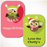 Christmas Owls Gift Labels