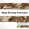 Camo Gift Labels