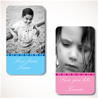 Blue Steps Photo Gift Labels