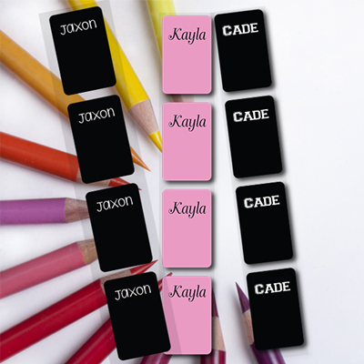 Wrap around pencil labels