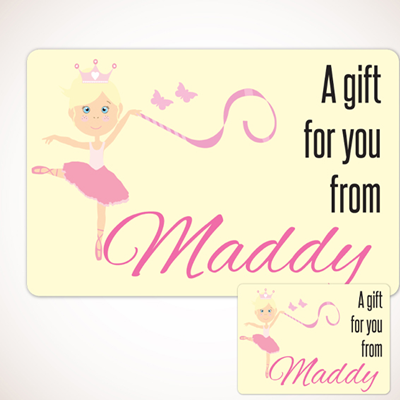 Ballerina Gift Labels