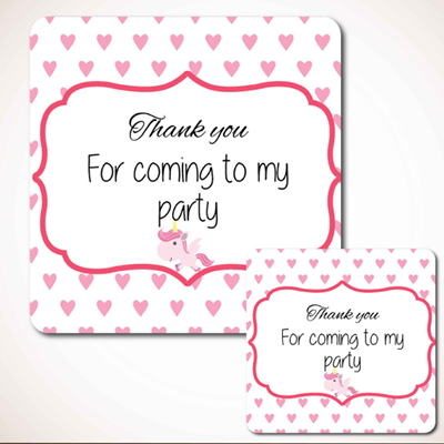 Hearts Party Labels